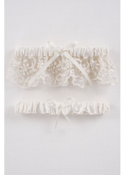 DB Exclusive Beaded Lace Garter Set GTR440