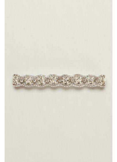 Brooklyn Rhinestone Garter with Pearls - Wedding Accessories