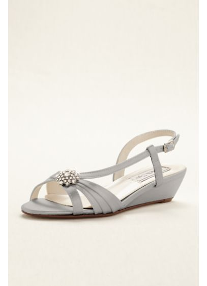 Touch Ups Grey (Geri Wedge Sandal by Touch Ups)