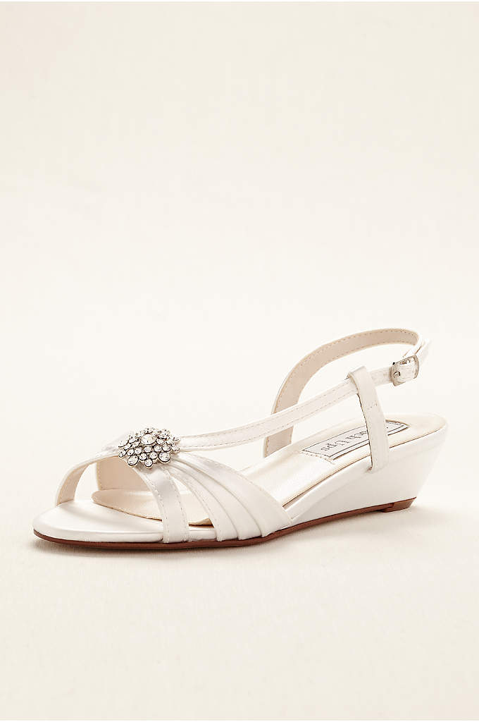 Geri Dyeable Wedge Sandal by Touch Ups - The comfort and sophistication of these wedge sling