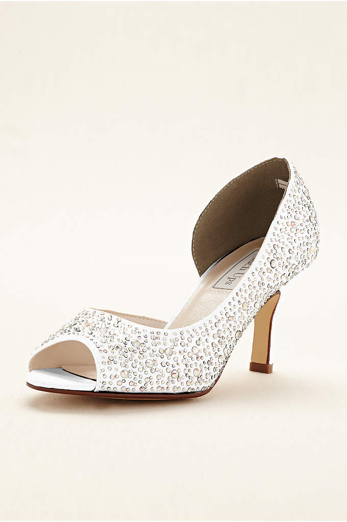 Greta Dyeable Crysal D'orsay Pump by Touch Ups - Turn up the glam factor in these dazzling