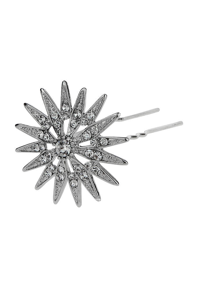Antique Silver Star Mini Hair Pin Set - Dot your 'do with this set of three