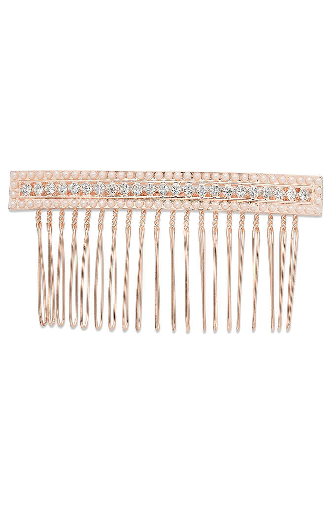 Linear Crystal and Pearl Hair Comb - Simply chic with crystals and seed pearls, this