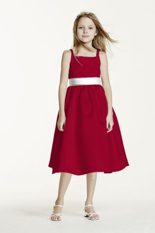 Tea Length Red Cocktail Dress