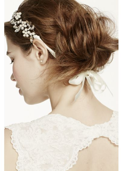 Cut Crystal Tie-Back Headband H12426