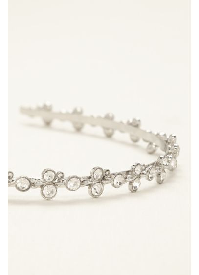 Slim Headband with Round Crystals - Wedding Accessories