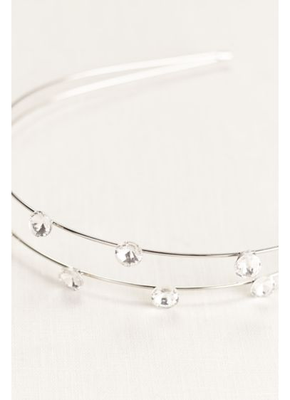 Double Row Scattered Crystal Headband - Wedding Accessories