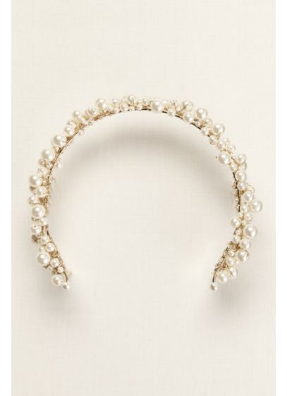 Back Headband with Pearls - Wedding Accessories