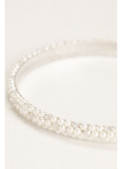 Triple-Row Pearl Headband - Wedding Accessories