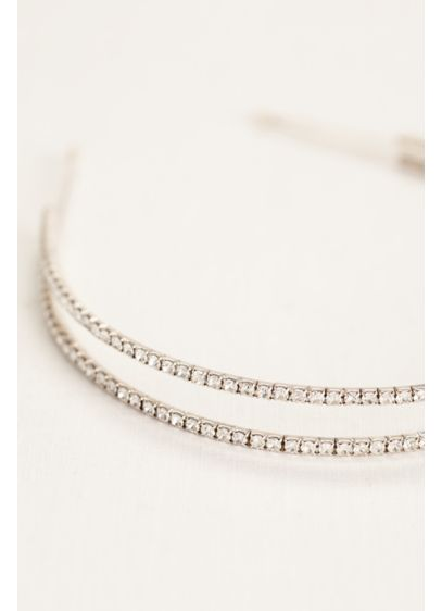 Double Row Rhinestone Headband - Wedding Accessories