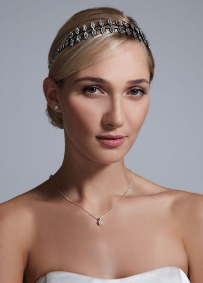 Crystal Double Row Elastic Headband H304682