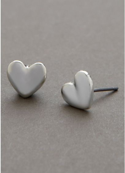 Heart Stud Earrings - Wedding Accessories