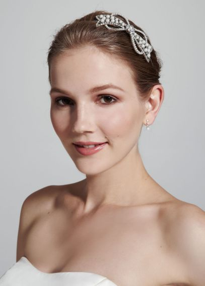 Casted Pearl Bow Headband H9039