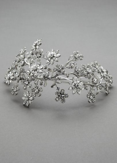 Large Crystal Floral Headpiece H9058