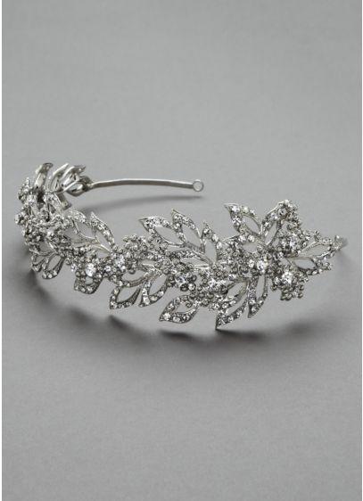 Oleg Cassini Pointed Petal Crystal Headband - Wedding Accessories