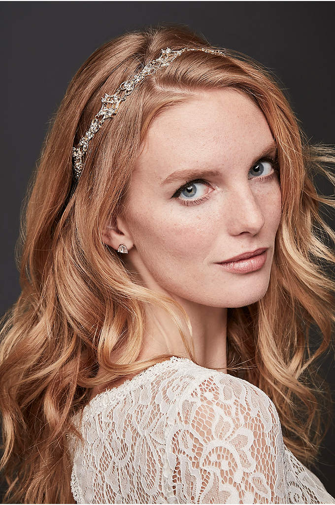 Filigree Crystal Tieback Headband - Finish off your look with this chic filigree