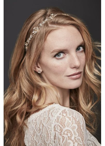 Filigree Crystal Tieback Headband H9065