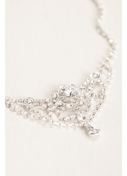 Crystal Chain Headpiece - Wedding Accessories