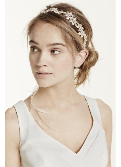 Floral Organza Ribbon Tie Back Headband - Wedding Accessories