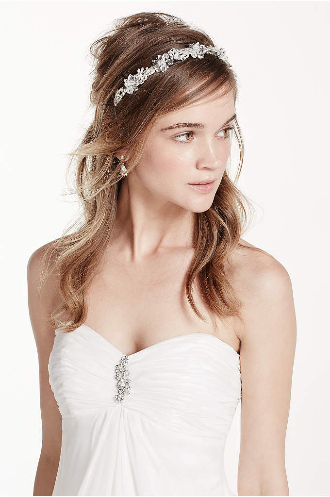 Crystal Floral Headband - Crown yourself with flower power! Headband is beautifully