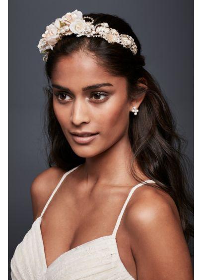 Rosebuds and Rhinestones Flexible Headband - Wedding Accessories