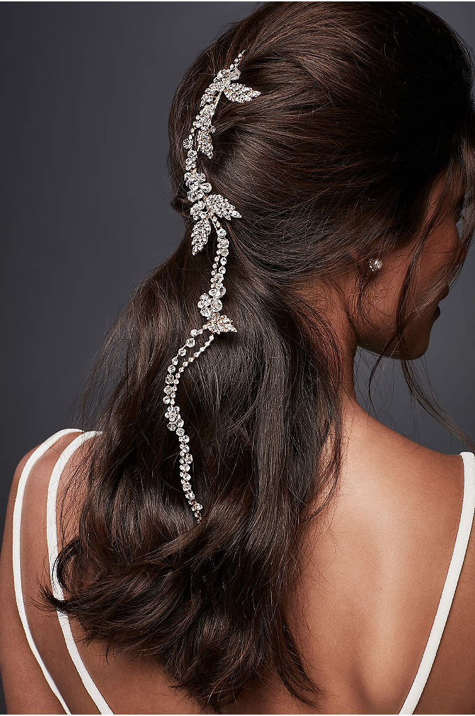 Flexible Crystal Hair Vine - This flexible wire hair vine, embellished with sparkling