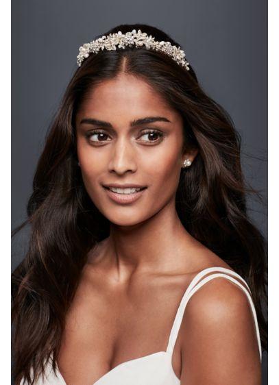 Pearls and Petals Flexible Headband - Wedding Accessories