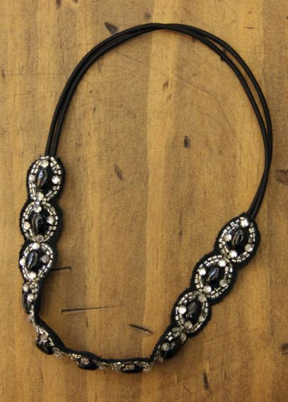 Circular Beaded Design Headband H9377