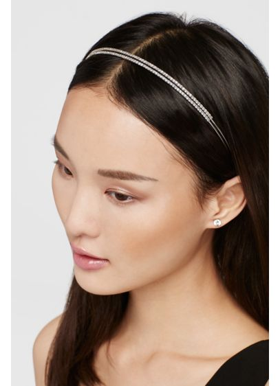 Double Row Crystal Headband - Wedding Accessories