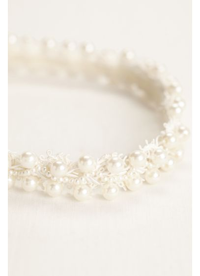 Pearl Crochet Headband - Wedding Accessories