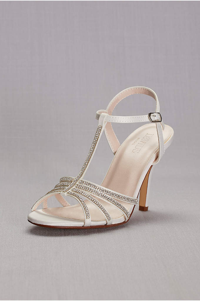 Crystal T-Strap High Heel Sandal - Add some sparkle to your step with these