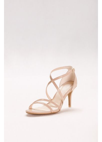 David's Bridal Beige (Crisscross Strap High Heel Sandals)