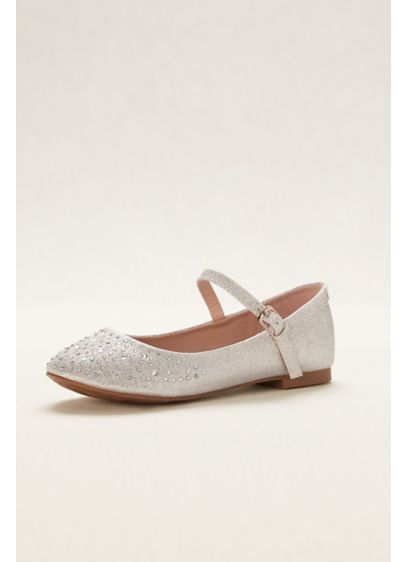 Blossom White (Flower Girl Crystal Mary Jane Flat)