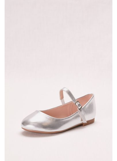 Blossom Grey (Metallic Mary Jane Girls' Ballet Flat)