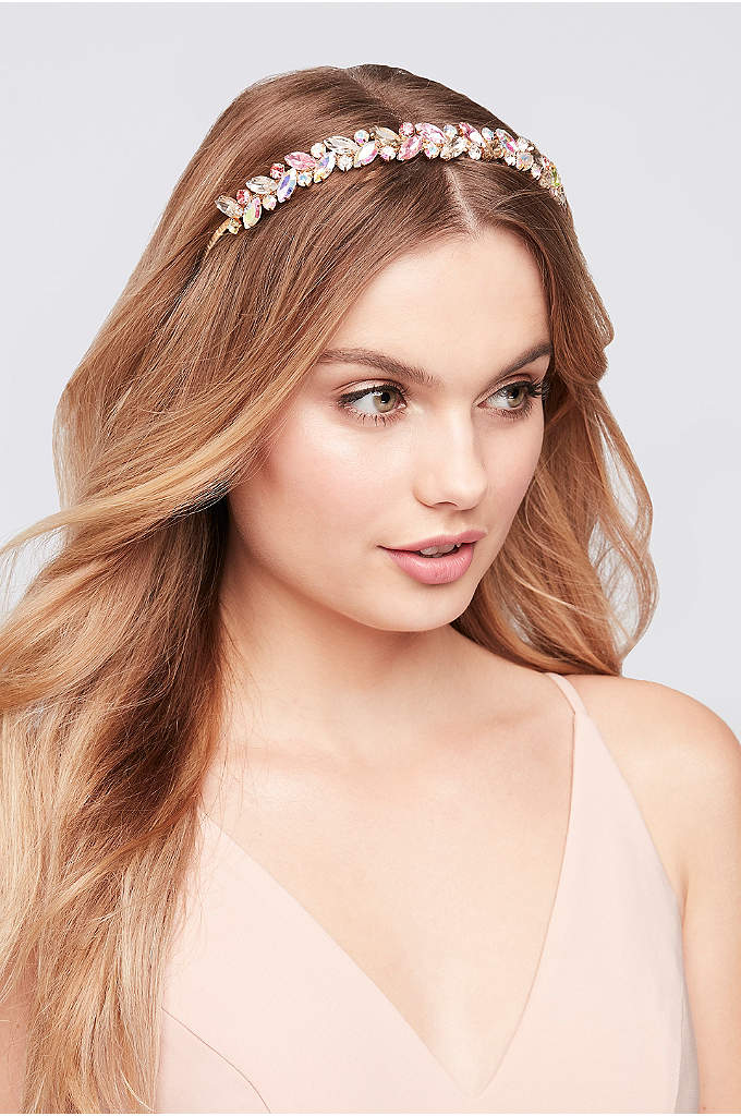 Iridescent Pastel Leaf Headband - Beautiful tones of iridescent and translucent pastels light