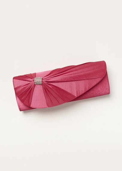 Satin Clutch with Ornament by Coloriffics HB270