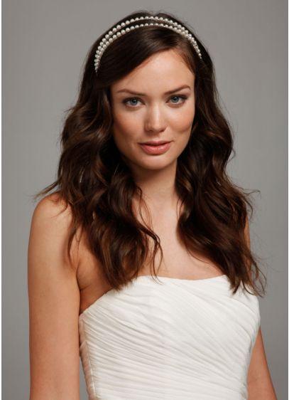 Double Row Pearl Headband - Wedding Accessories