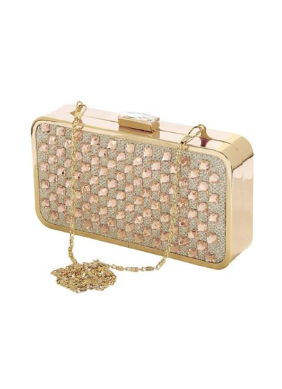 Crystal Checkered Minaudiere - Wedding Accessories