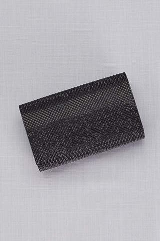Bolsa Estilo Clutch de Cristales Negros