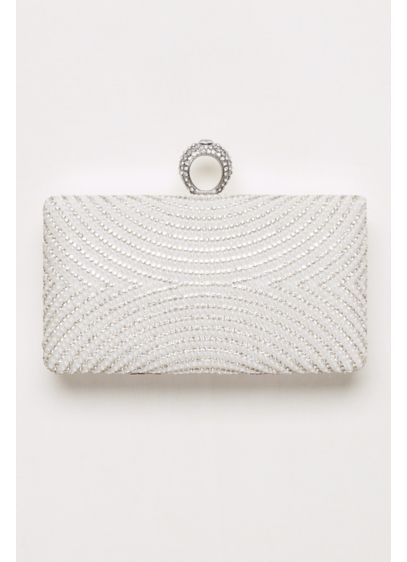 Curved Pearl and Crystal Minaudiere - Wedding Accessories