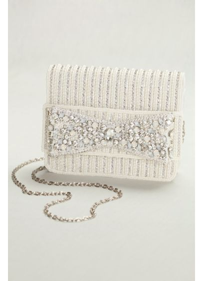 Beaded Bow Clutch - Wedding Accessories