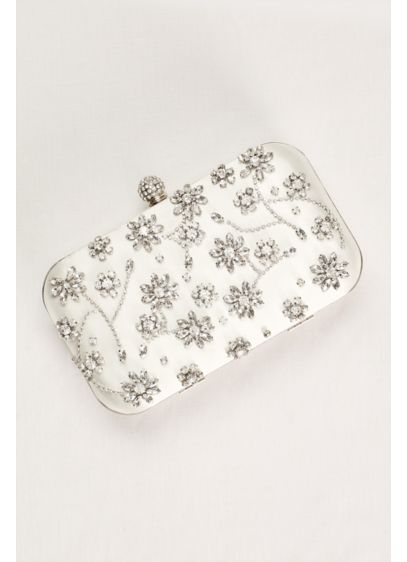 Crystal Floral Motif Minaudiere - Wedding Accessories