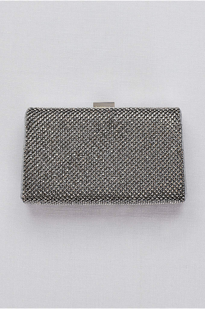 Crystal Mesh Frame Clutch - With the vibe of metal mesh but the