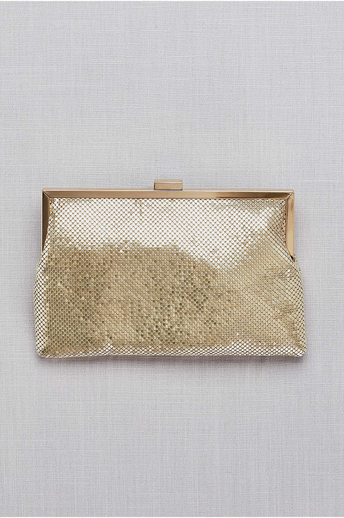 Metallic Mesh Clutch - An elegant clutch with an edgy vibe, thanks