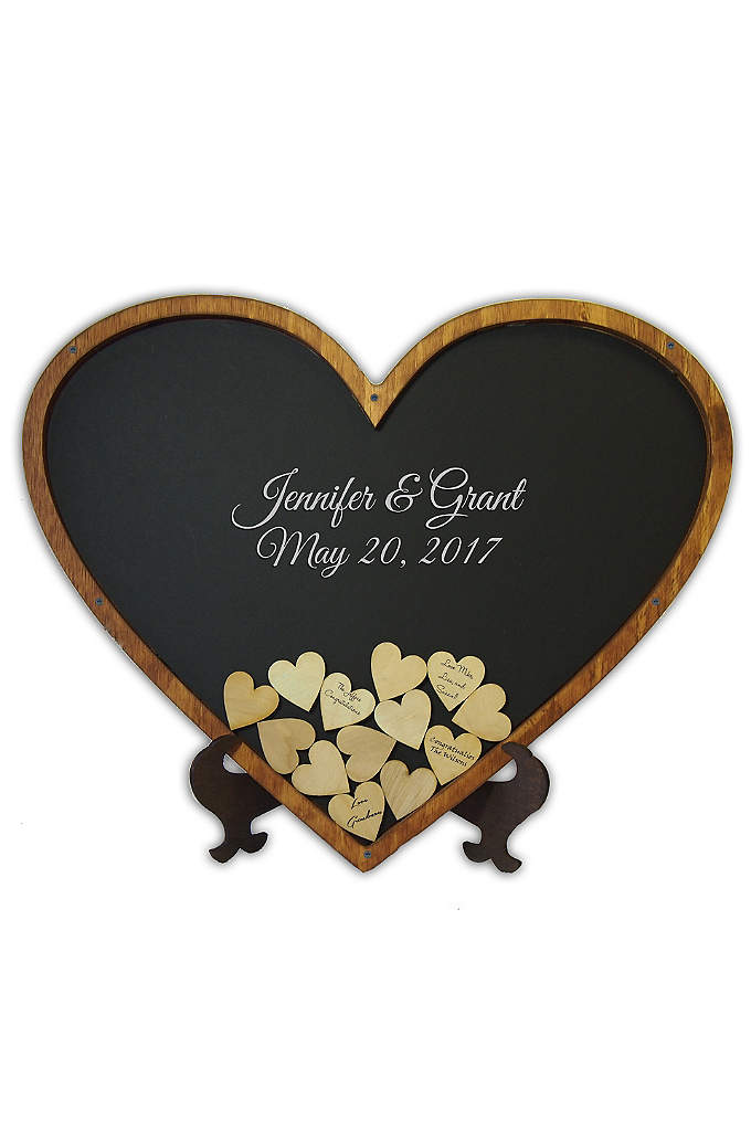 Personalized Heart Shaped Drop Heart Guest Book - This Heart Shaped Drop Heart Wedding Guest Book