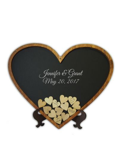 Personalized Heart Shaped Drop Heart Guest Book - Wedding Gifts & Decorations