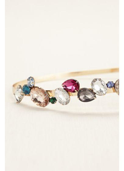 Side Motif Gemstone Headband - Wedding Accessories