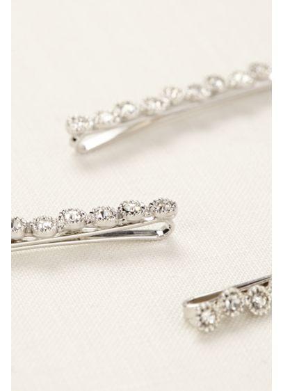 Set of 3 Crystal Bobbies - Wedding Accessories