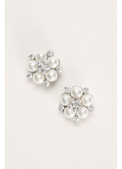 Pearl and Crystal Shoe Clip - Wedding Accessories