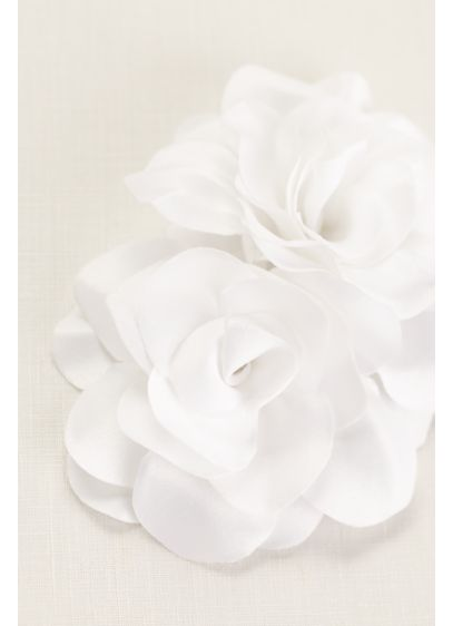 Double Fabric Flower Comb - Wedding Accessories